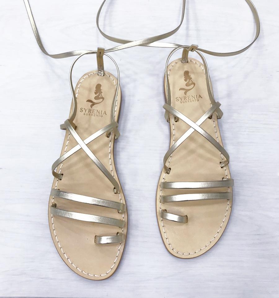 Sandalo Roma Pelle Oro
